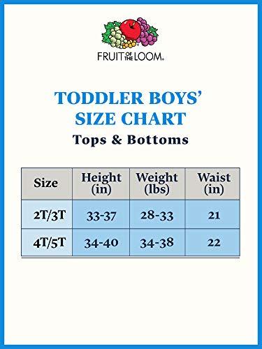Fruit of The Loom Little Boys' Crew Tee ,White,4T(Pack of 5)