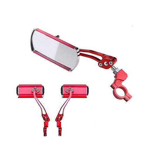 Bestine - Espejos para bicicleta, 1 par de espejos de aluminio, rotación de 360 °, espejo retrovisor para motor, scooter de visión trasera, espejo retrovisor para manillar de gran angular