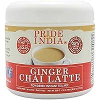Pride Of India café con leche en polvo de jengibre chai premezcla té instantáneo, 8,82 oz (250 gramos) jarra (hace 20 tazas)