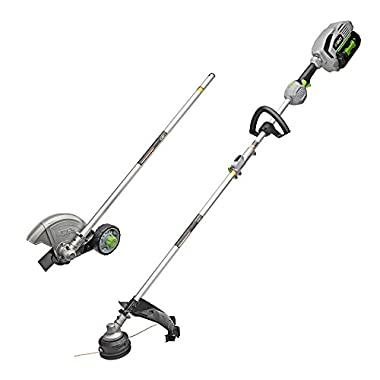 POWER+15in.56V Lithium ion Cordless String Trimmer+Edger Combo Kit (2-Tool) w/5.0Ah Batt and Charge EGO Multi-Head System