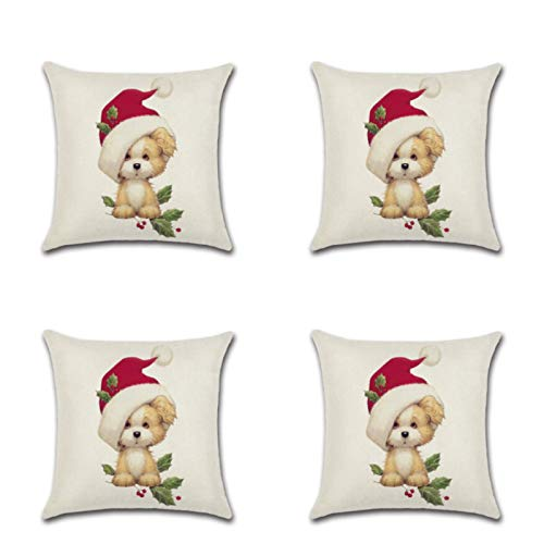 Christmas Series Zj-856 Linen Dog Cat Sofa Decorative Cushion Cover Truck Pillow Cover 45 * 45Cm