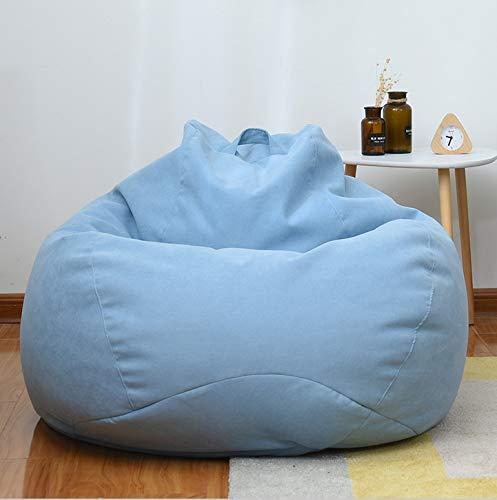 XRQ Bean Bag Chair: Giant 5' Memory Foam Furniture Bean Bag - Big Sofa with Soft Micro Fiber Cover,Sky Blue,110120cm