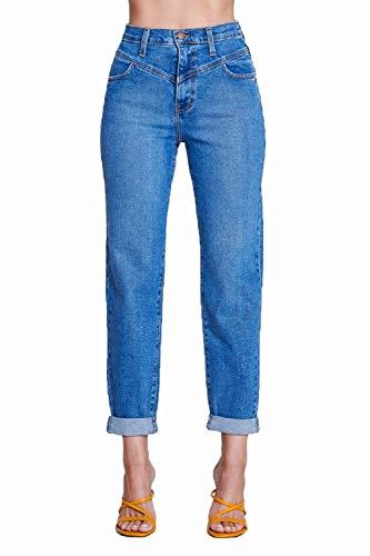 Vibrant Classic Mom Jeans High Waist
