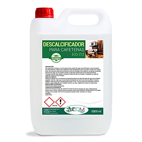 Ecosoluciones Químicas ECO- 212   Descalcificador para Cafeteras   Compatible con todas las máquinas de café   5 L