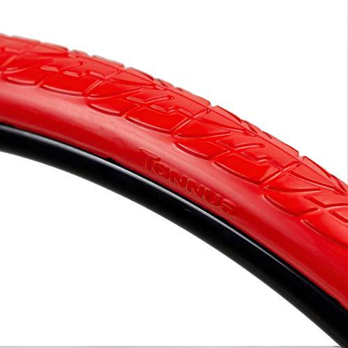 Tannus Tire Airless 700x40c (40-622) Solide Reifen Shield | 100% Pannensicherer Vollreifen für Citybike/Trekking, Farbe Volcano (Rot), Härte Regular