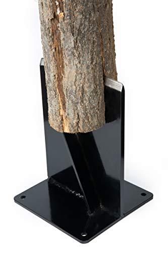 HANDYGO Wood Kindling Splitter - High Strength Structural Steel Firewood Splitter, Wood Splitter Wedge, for Small Wood Stove and Fireplace Manual Log Splitter, Black