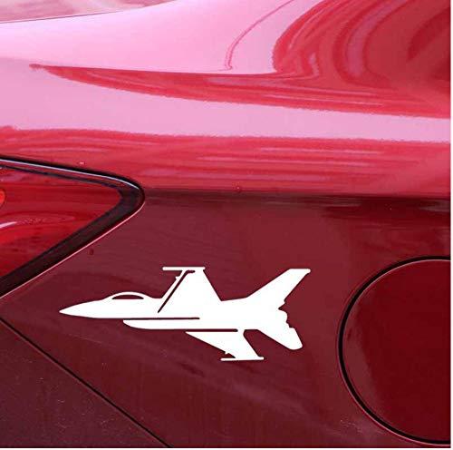 Yangjingkai 2 Stks Luxe Vliegtuigen Silhouette Cool Vinyl Decal Delicate Auto Sticker Wit 15.3Cm*5.8Cm