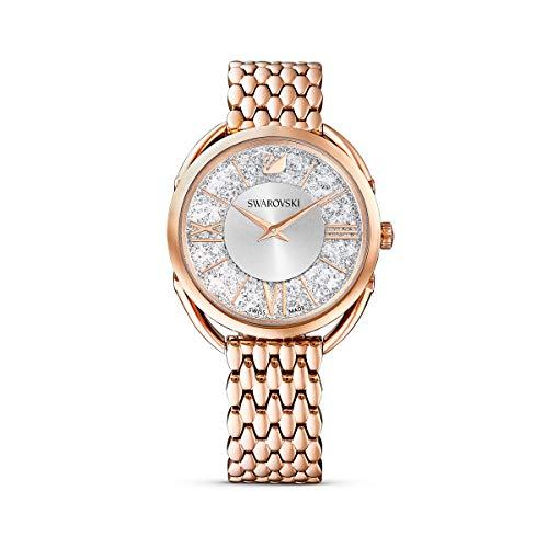 SWAROVSKI Women's Crystalline Glam Rose Gold Quartz Watch with Metal Strap, White, 3 (Model: 5452465)