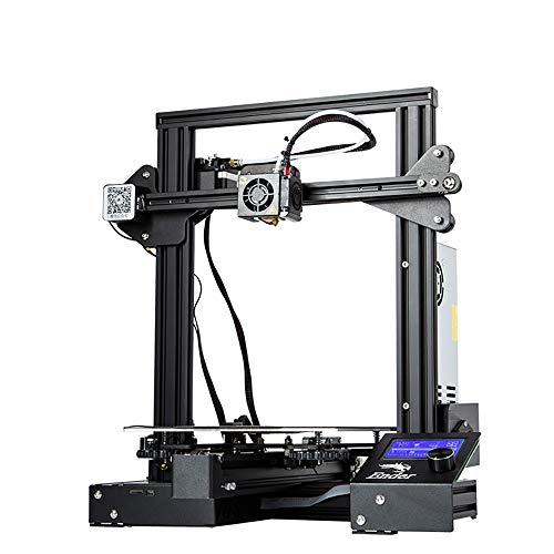W.Z.H.H.H Imprimante 3D Imprimante 3D 3D Printing Ender 3 Pro avec Plaque de Surface de Construction Cmagnet Mise à Niveau, Impression de CV 8.6
