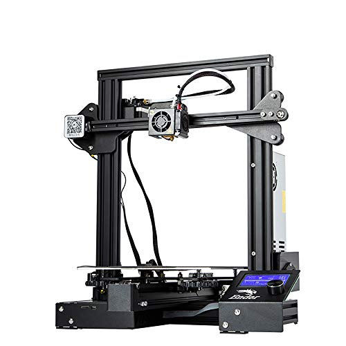 LPLHJD Imprimante 3D Imprimante 3D 3D Printing Ender 3 Pro avec Plaque de Surface de Construction Cmagnet Mise à Niveau, Impression de CV 8.6