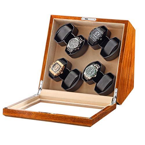 Watch Enrollador Caja Enrolladora de Reloj Automática para 8 Relojes Motor Mabuchi y Suministro de Adaptador de CA a Batería o Alimentado por USB, Adecuado para Relojes de Pulsera para Hombres y Mujer