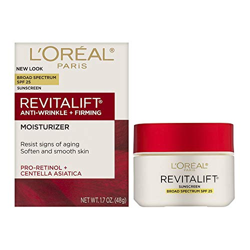 41xBs 7YzmL - Face Moisturizer with SPF 25 by L'Oreal Paris, Revitalift Anti-Aging Face Moisturizer with Pro-Retinol and Centella Asiatica, Paraben Free, Suitable for Sensitive Skin, 1.7 oz.