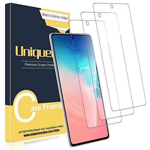 UniqueMe [3 Pezzi] Vetro Temperato per Samsung Galaxy S10 Lite/Note 10 Lite Pellicola, [Durezza 9H] Pellicola Protettiva per S10 Lite/Note 10 Lite Protezione con Un Perfetto Servizio Post-Vendita.