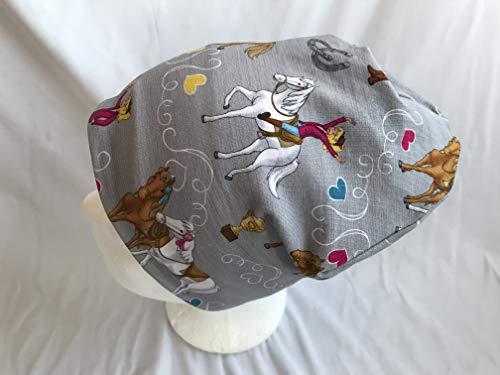 Mütze Bibi und Tina auf grau 50-54