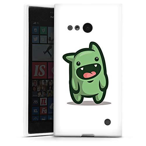 DeinDesign Silikon Hülle kompatibel mit Nokia Lumia 735 Hülle weiß Handyhülle Unge YouTube Youtuber