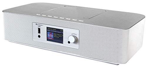 Soundmaster ICD2020WE Internet UKW DAB Radio Netzwerkplayer CD MP3 App-Steuerung Fernbedienung in Weiß