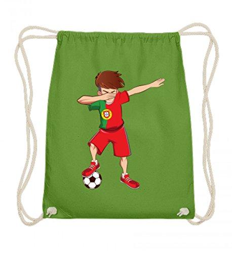 ALBASPIRIT Hochwertige Baumwoll Gymsac - Dabbing Fussball Spieler Dab Portugal Fan T-Shirt Portugiesischer Fussballer Geschenk