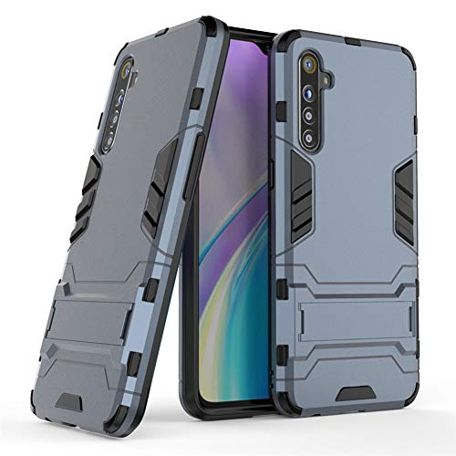 MaiJin Case for Oppo Realme XT/Realme X2 (6.4 inch) 2 in 1 Shockproof with Kickstand Feature Hybrid Dual Layer Armor Defender Protective Cover (Blue Black)