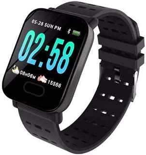 A6 Sport Smart Watch Akıllı Saat Su Geçirmez, Tansiyon ve Nabız (Siyah)