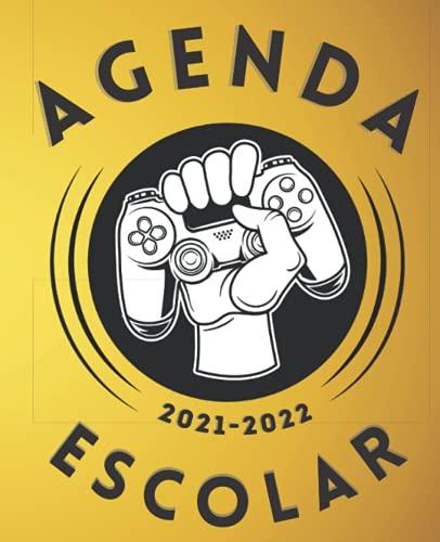 Agenda Escolar 2021-2022 Gamer: Planificador semanal para niñas y niños | 1 semana en 2 páginas | Agenda 2021 2022 semana vista | Material escolar colegio secundaria estudiante | Portada game