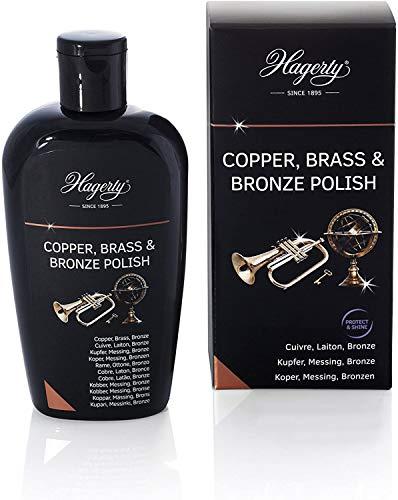 Hagerty Copper Brass & Bronze Polish 250 ml I Effiziente Bronze Messing Kupfer-Politur für erneuerten Glanz I Polierpaste für Vasen Skulpturen Kupfergeschirr Dekorationsartikel Musikinstrumente usw