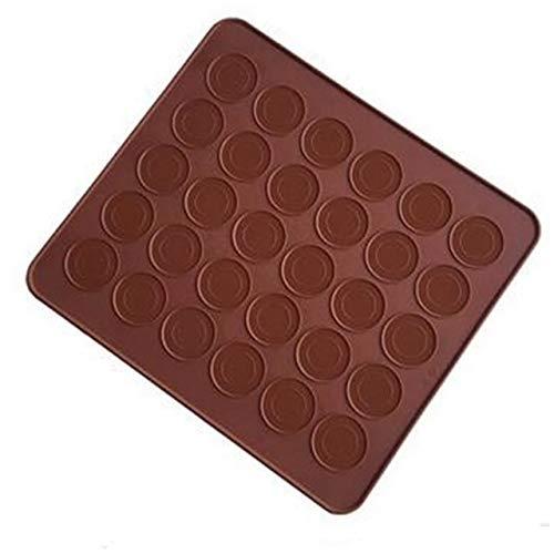 Moonlight Star 30 Cavity Macaron Silikon-Matte Gebäck-Kuchen-Macarons-Form-Form Weihnachten Bakeware Küche Backen-Werkzeuge Mat M037