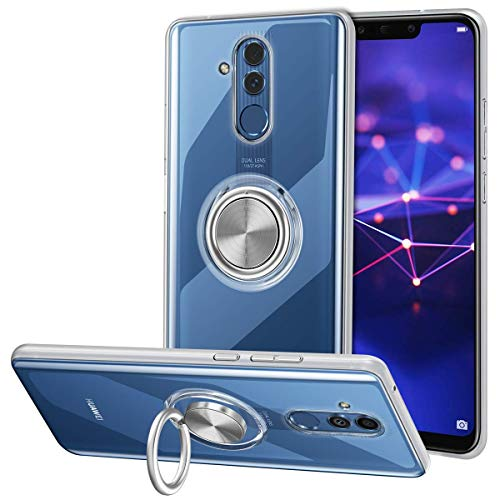 VUNAKE Hülle Case für Huawei Mate 20 Lite, Cover mit 360 Grad Ring Stand Handyhülle kompatibel Magnetische Autohalterung Schutzhülle Fingergriff Outdoor Stoßfest Tasche für Huawei Mate 20 Lite