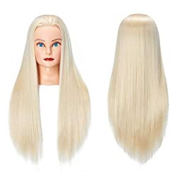 """in budget affordable Training head for teaching beauty 26 """"-28"""" Long-haired doll Synthetic fiber …"""