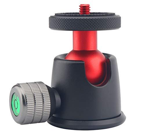 AFVO Professional Tripod Ball Head with 1/4 Screw, Base and Ballhead 360° Pan 90° Tilt, Weight Capacity 3KG/6.6lbs