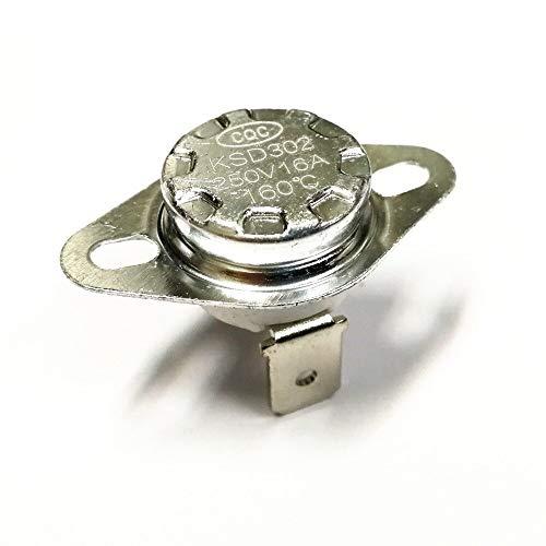 Ceramic Temperature Switch KSD301 16A 250V 160C 165C 170C 175C 180C 185C 190C 195C 200C degrees Thermostat Normally Closed - (Color: 160 degrees)