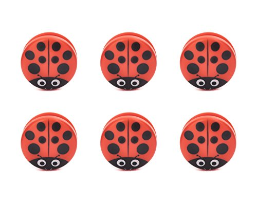 Ladybug Bag Clips set of 6 レディーバグバッグクリップ