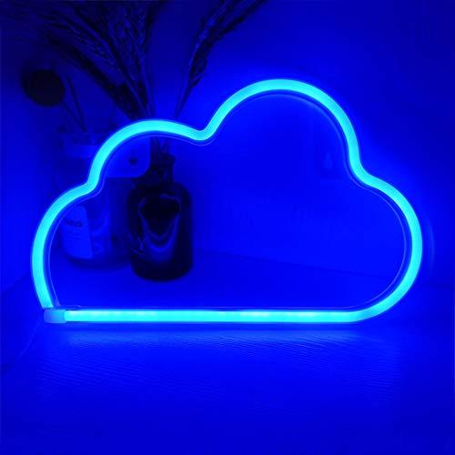 Anyingkai Insegna al Neon Led,Insegna al Neon da Muro,Insegne Luminose Neon da Parete,Insegne Luminose Camera da Letto,Luci al Neon Decorative da Parete,Luce Notturna al Neon a Led (Nuvole)