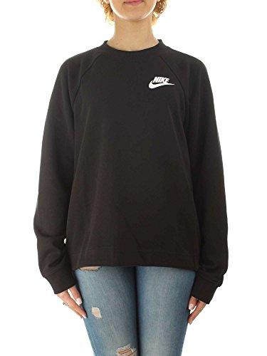 Nike Damen Sportswear Advance 15 Crew Langarm Oberteil, Black/(White), XS