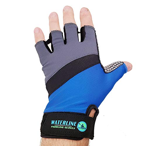 WaterLine Half Finger Paddling Gloves for Kayaks, Canoes and SUP Paddle Boards