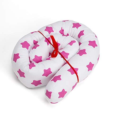 Bettschlange baby Nestchenschlange Bettrolle - 150 cm Bettumrandung Babybettschlange Babybett umrandungen Babynestchen für Kinderbett