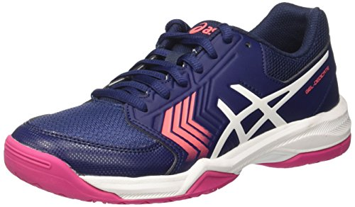 Asics Gel-Dedicate 5, Zapatillas de Deporte Mujer, Azul (Indigo Blue/White/Diva Pink), 39.5 EU