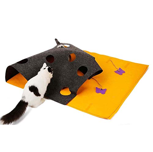 KK Timo Gato Catch Dodge Pad multifunción estilo DIY gato jugando gato túnel juguete mascotas mantas rompecabezas Mat 90 * 110 cm