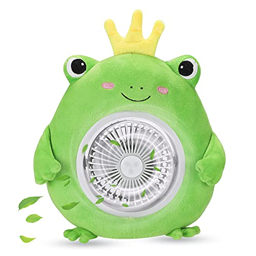 S-DEAL USB Fan Personal Portable Fan, 3 Speed Adjustable Quiet Table Fan, Rechargeable Cooling Desk Fan, Cute 45 Degrees Rotation for Office Home