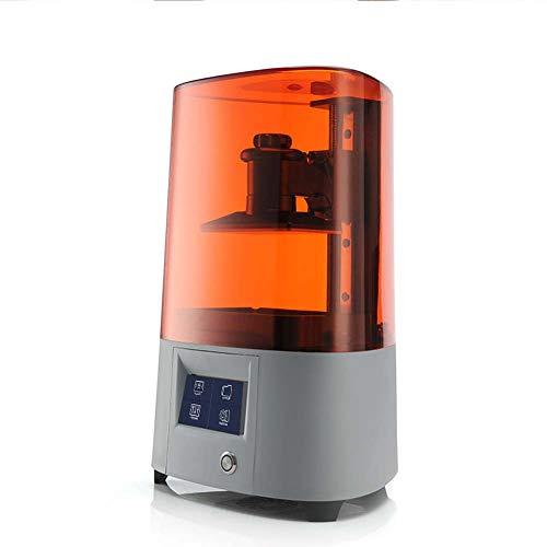 Kiyte UV Photocuring LCD 3D Printer with Enclosure, Extruder Desktop, 4.3'' Smart Touch Color Screen, Silent, Off-Line Print, Print Via Wifi,Orange