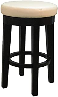 New Pacific Direct Cameron Bonded Round Swivel Counter Stool 25
