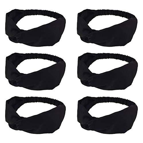 DRESHOW Headbands for Women Criss Cross Vintage Head Wrap Boho Headband Elastic Hair Accessories 6 Pack