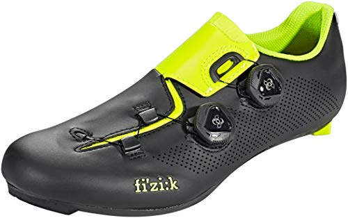 FIZIK R3 ARIA Scarpe Bici da Corsa- Nero/Giallo Fluo - Modello 2018 (43 EU)