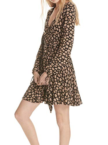 Free People | Pradera Flower Printed Mini Kleid | Black | XS