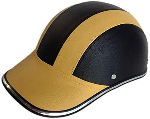 Allround Helmets Retro Style Offen·Brain-Cap Halbschalenhelm klassischer Motorrad Halber Helm Moped Erwachsene für Oldtimer Vintage Harley-Jethelm Elektroauto-Roller Kollisions Helm