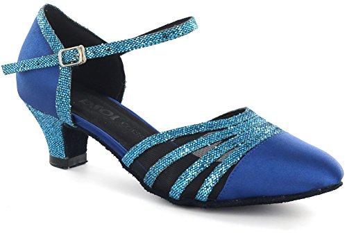 DSOL Damen Pumps Tanzschuhe DC360-13 Absatz 5,6 cm, Blau (blau), 37 EU