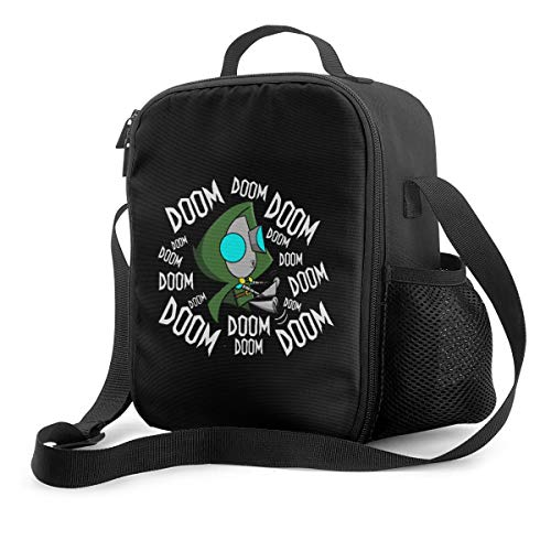 Funny Invader Zim Gir Doom Unisex Insulated Lunch Bag Wide-Open Tote Bag Lunch Box Cooler Bags for Office/School/Picnic