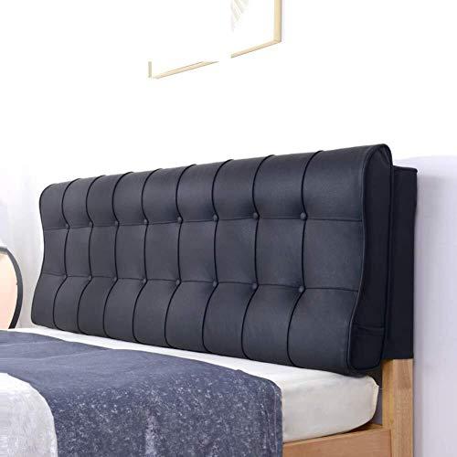 J-Kissen Polsterkopfteil Kunstleder, dreieckige Keil-Kissen, Lesekissen Rücken Positionierung Stützkissen, for Office-Bett Sofa (Color : O, Size : 120x58cm(47x23inch))