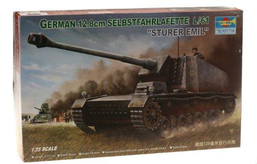 Trumpeter 00350 Modellbausatz Selbstfahrlafette 12,8 cm L/61 Sturer Emil