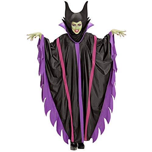 Widmann 39924 - Erwachsenenkostüm Malefizia, Kleid mit Kragen und Hut, Böse Fee, Märchen, Mottoparty, Karneval