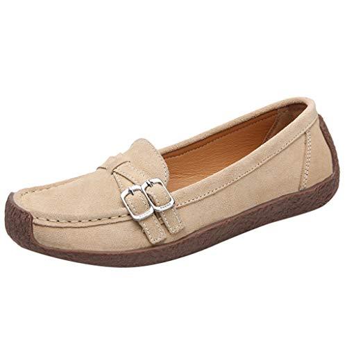 KItipeng Femme Mocassins Loafers ete,Pas Cher Casual Respirant Bateau Chaussures Plates Loafers Chaussures de Conduite Sandales,Chaussures Baskets Mode Respirantes de Plein Air Chaussures